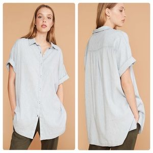 Lou and Grey Crosshatch Softstretch Linen Tunic